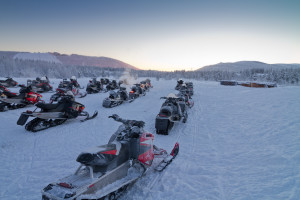 Group of snowmobiles